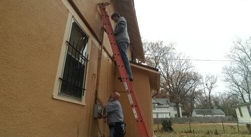 Contractors Working Outside